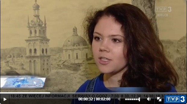 Kadr z materiału filmowego przygotowanego przez Ewelinę Baran z TVP Kielce (Kielce, 17-05-2018)