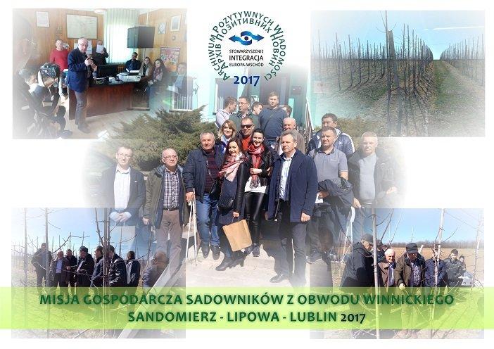 Misja gospodarcza sadowników Sandomierz Lublin 2017